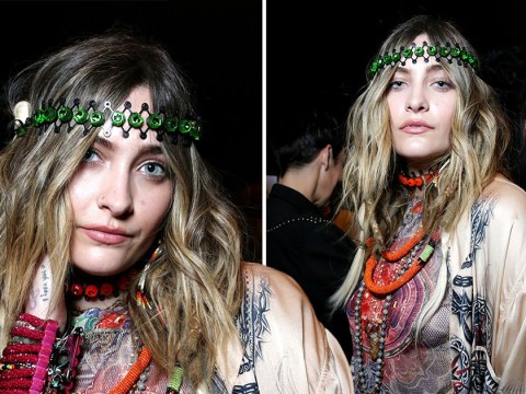 Paris Jackson looks pretty pleased with herself backstage after making Paris Fashion Week runway debut