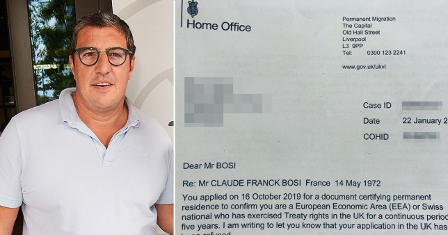French chef Claude Bosi denied settled status after 23 years