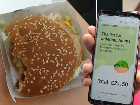 Care worker outraged after McDonald's Big Mac delivered 'half-eaten'
