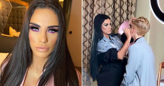 Katie Price holds makeup masterclass