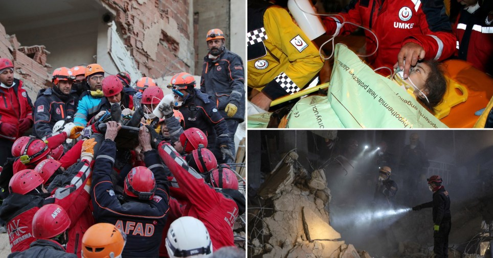 Rescue teams are working round the clock to find survivor