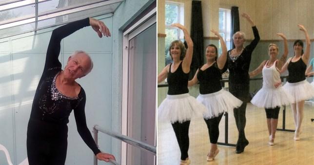 Granddad doing ballet