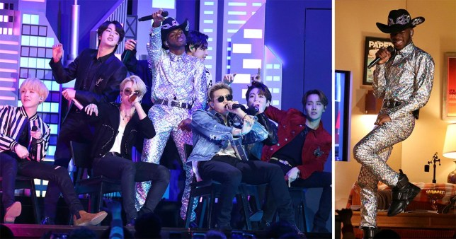 grammys 2020 bts hit the stage with lil nas x for old town road metro news lil nas x for old town road