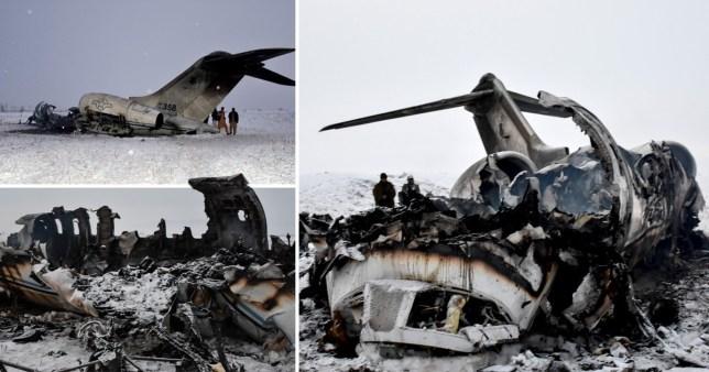 Wreckage US plane crashed in Afghanistan