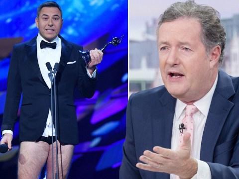 Piers Morgan slams 'creepy' David Walliams as NTA host and calls him a 'd**khead'