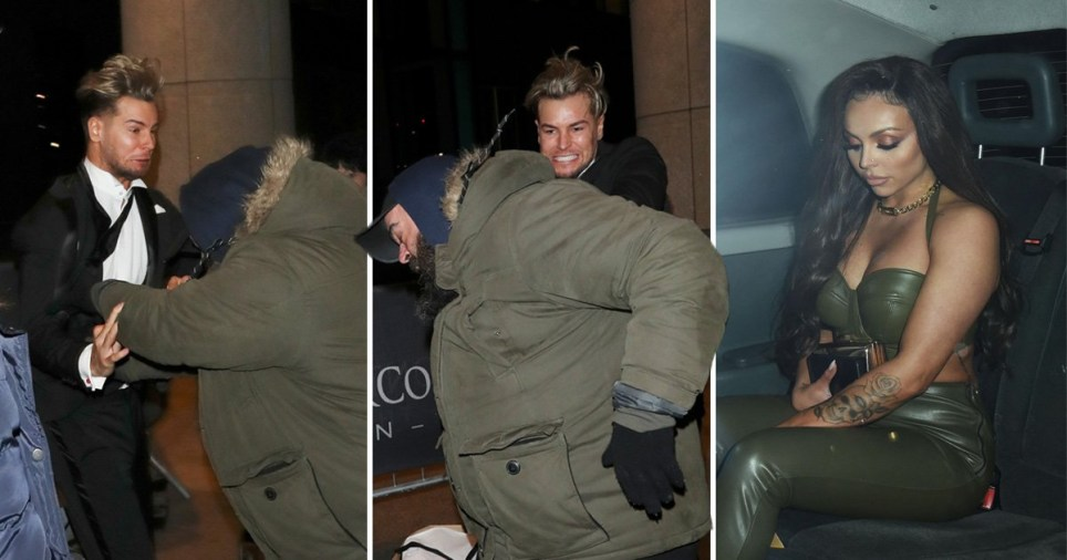 Chris Hughes in violent scuffle with photographer as he leaves NTAs with girlfriend Jesy Nelson