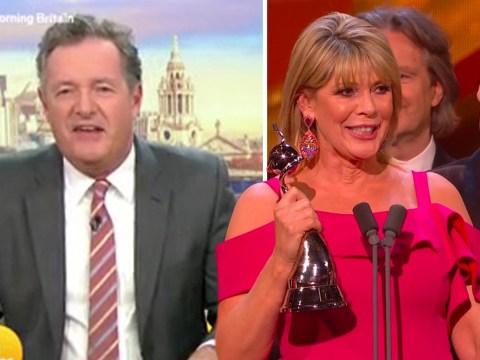 Piers Morgan cringes at 'awks' interaction between Phillip Schofield and Ruth Langsford at NTAs