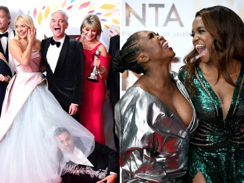 NTAs winners cause chaos after ceremony as Dr Ranj Singh hides head in Holly Willoughby's dress and Ant and Dec celebrate 19th win
