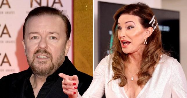 Ricky Gervais and Caitlyn Jenner