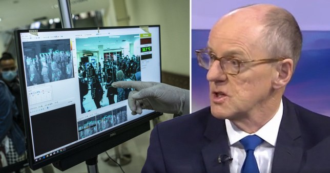 Schools minister Nick Gibb told Sky News that if anyone appears to be infected with the virus, they won't be able to leave
