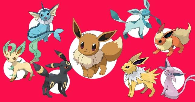 Evee evolutions on Pokemon Go