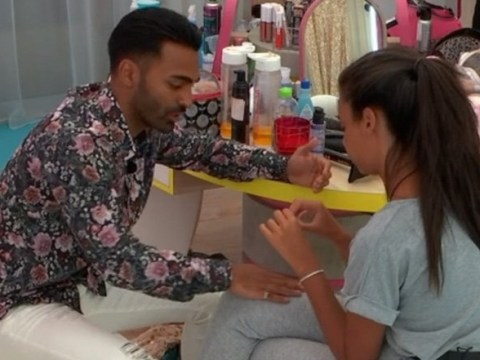 Love Island's Nas accused of being 'creepy' for rubbing Sophie's thigh while she's crying