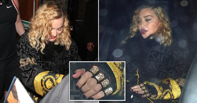 Madonna and her knuckle bling