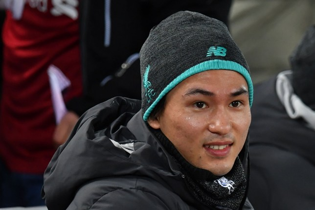 Takumi Minamino was in the stands to watch Liverpool beat Sheffield United