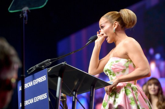 PALM SPRINGS, CALIFORNIA - JANUARY 02: Jennifer Lopez accepts the Spotlight Award onstage during the 31st Annual Palm Springs International Film Festival Film Awards Gala at Palm Springs Convention Center on January 02, 2020 in Palm Springs, California. (Photo by Matt Winkelmeyer/Getty Images for Palm Springs International Film Festival)