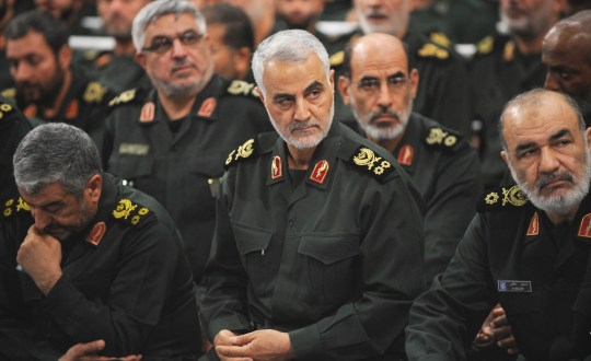 FILE: US kills Iran general Qassem Suleimani TEHRAN, IRAN - SEPTEMBER 18 : Iranian Quds Force commander Qassem Soleimani (C) attends Iranian supreme leader Ayatollah Ali Khamenei's (not seen) meeting with the Islamic Revolution Guards Corps (IRGC) in Tehran, Iran on September 18, 2016. (Photo by Pool / Press Office of Iranian Supreme Leader/Anadolu Agency/Getty Images)