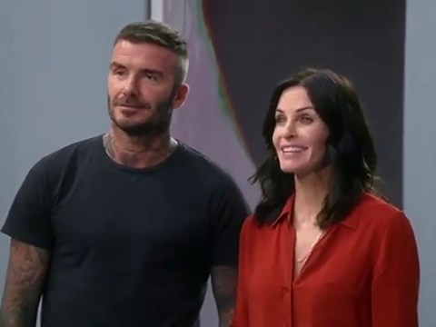 David Beckham gives glimpse of his cameo on Modern Family with Courteney Cox – and we are so there for it