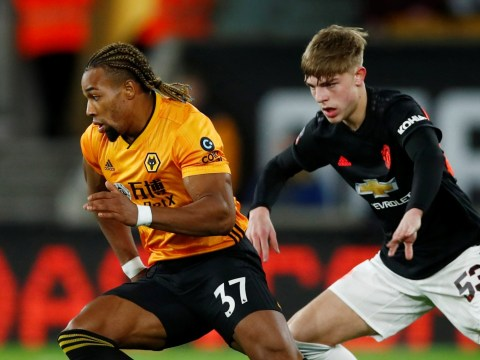 Ole Gunnar Solskjaer praises Brandon Williams for his display against Adama Traore in Manchester United's draw with Wolves