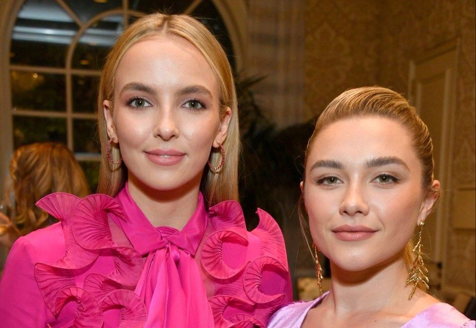 LOS ANGELES, CALIFORNIA - JANUARY 04: (L-R) Jodie Comer and Florence Pugh attend The BAFTA Los Angeles Tea Party at Four Seasons Hotel Los Angeles at Beverly Hills on January 04, 2020 in Los Angeles, California. (Photo by Frazer Harrison/BAFTA LA/Getty Images for BAFTA LA)