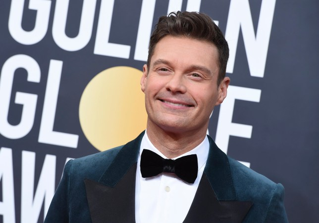 Ryan Seacrest at the Golden Globes