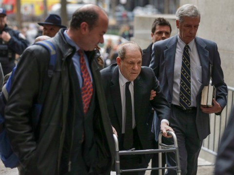 Harvey Weinstein arrives at court on walker as criminal trial begins