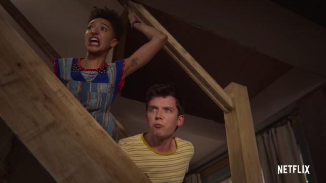 a still from the Sex Education season 2 trailer