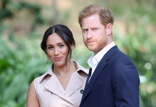 Prince Harry, Duke of Sussex and Meghan, Duchess of Sussex attend a Creative Industries and Business Reception on October 02, 2019 in Johannesburg, South Africa. (Photo by Chris Jackson/Getty Images)