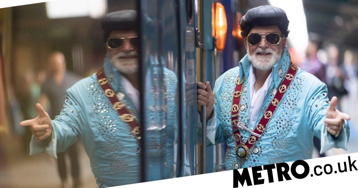 Diehard fans board Elvis Express in fancy dress for tribute festival