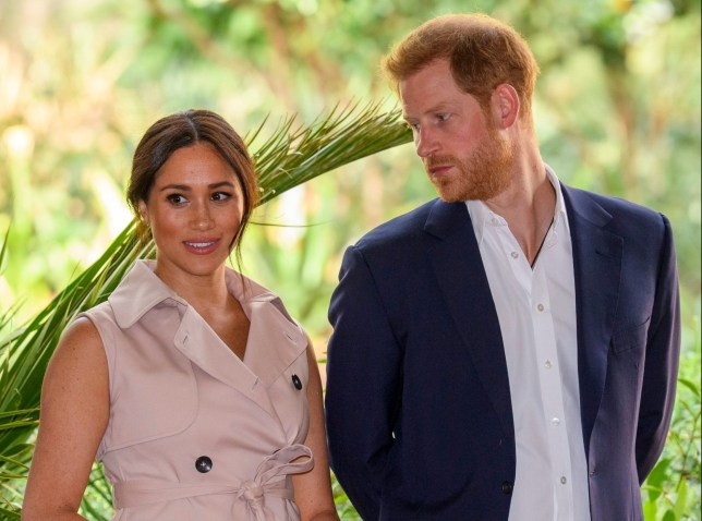Mandatory Credit: Photo by Tim Rooke/REX (10433576fl) Meghan Duchess of Sussex and Prince Harry attend a Creative Industries and Business Reception the garden of her High Commissioner's Residence, Johannesburg, South Africa. Prince Harry and Meghan Duchess of Sussex visit to Africa - 02 Oct 2019 The Duke and Duchess of Sussex will attend a Creative Industries and Business Reception Following their private meeting with Mrs Machel, The Duke and Duchess will be escorted by Her Majesty?s Trade Commissioner Emma Wade-Smith into the garden of her High Commissioner's Residence, Johannesburg, South Africa. Over 300 guests will be gathered for a reception to celebrate the UK and South Africa?s important business and investment relationship, looking ahead to the Africa Investment Summit the UK will host in 2020. Their Royal Highnesses will meet British and South Africa investors and South African female entrepreneurs. The Duke and Duchess will also tour exhibitions on the theme of UK-SA business partnerships, including young South African creative artists and young South African designers featuring in Nando?s stores across the UK. Her Majesty?s Trade Commissioner will give a brief speech, introducing Their Royal Highnesses to all those present. The Duke will deliver remarks.