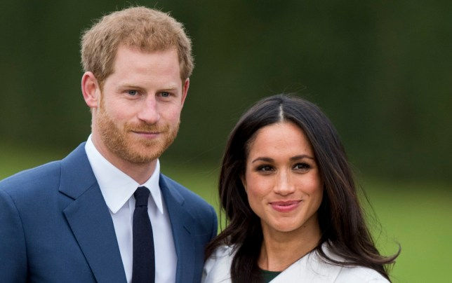 Prince Harry and Meghan Markle during an official photocall to announce the engagement of Prince Harry and actress Meghan Markle at The Sunken Gardens at Kensington Palace on November 27, 2017 in London, England. Prince Harry and Meghan Markle have been a couple officially since November 2016 and are due to marry in Spring 2018. (Photo by Mark Cuthbert/UK Press via Getty Images)
