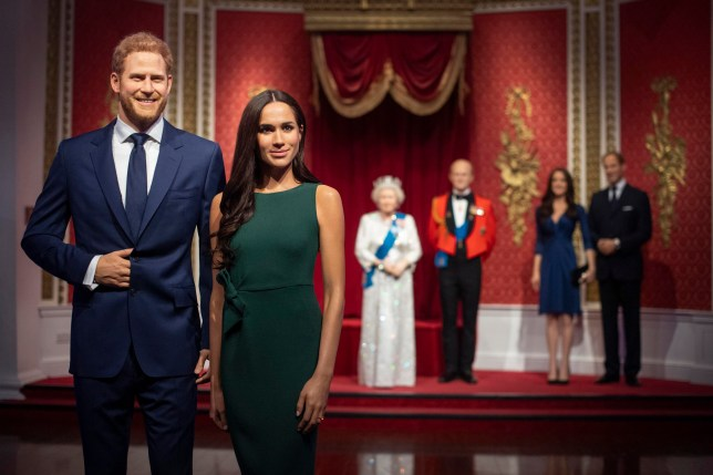"Madame Tussauds London moves its figures of the Duke and Duchess of Sussex from its Royal Family set to elsewhere in the attraction, in the wake of the announcement that they will take a step back as ""senior members"" of the royal family, dividing their time between the UK and North America. PA Photo. Picture date: Thursday January 9, 2020. See PA story ROYAL Sussex Tussauds. Photo credit should read: Victoria Jones/PA Wire"