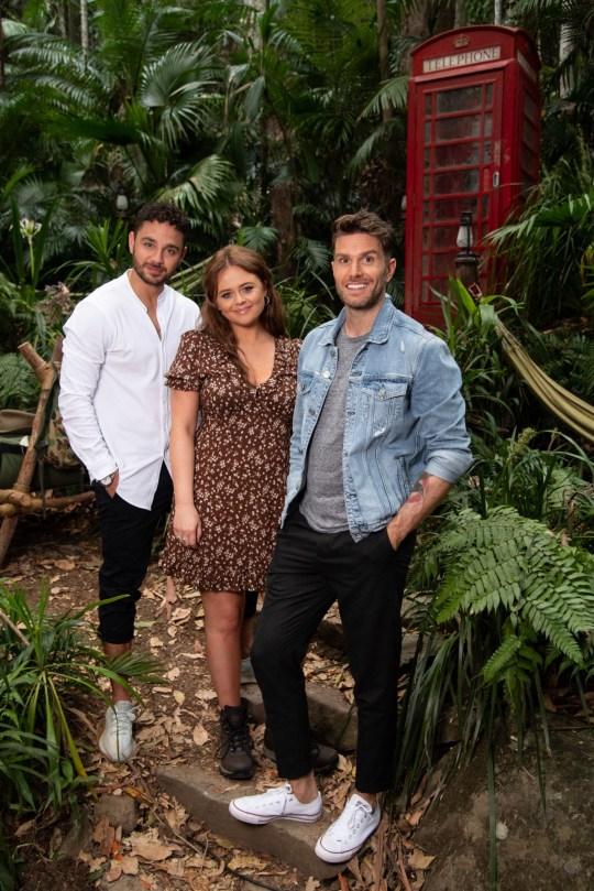 Adam Thomas, Emily Atack and Joel Dommett 'I'm a Celebrity... Extra Camp'