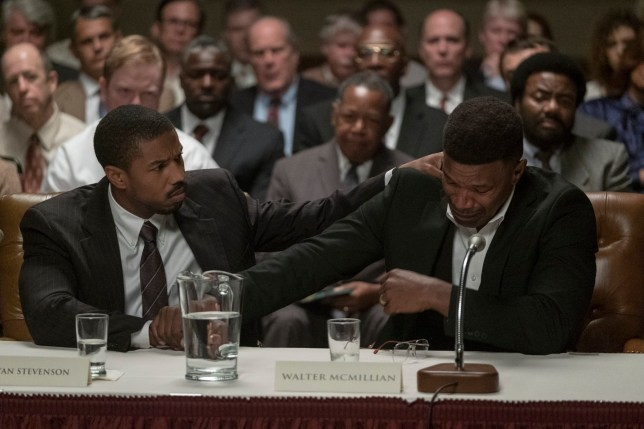 Michael B. Jordan and Jamie Foxx starring in Just Mercy