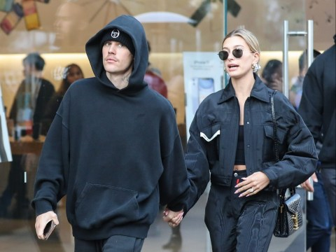 Justin Bieber and Hailey Baldwin twin in black as they're seen out and about in LA