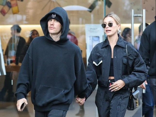 Los Angeles, CA - Justin and Hailey Bieber wear matching, all-black outfits to shop at The Grove. The loved up couple could be seen holding hands as they strolled through the outdoor shopping center, and later Hailey could be seen leaning into Justin at the valet parking area before the couple boarded their Sprinter van and heading out. Pictured: Justin Bieber, Hailey Bieber BACKGRID USA 11 JANUARY 2020 USA: +1 310 798 9111 / usasales@backgrid.com UK: +44 208 344 2007 / uksales@backgrid.com *UK Clients - Pictures Containing Children Please Pixelate Face Prior To Publication*