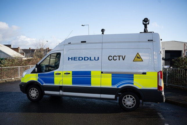 CARDIFF, WALES - JANUARY 12: A police facial recognition van at the Cardiff City Stadium for the Cardiff City v Swansea City Championship match on January 12, 2020 in Cardiff, Wales. Police are using the technology to identify those who have been issued with football banning orders in an attempt to prevent disorder. Critics argue that the use of such technology is invasive and discriminatory. (Photo by Matthew Horwood/Getty Images)