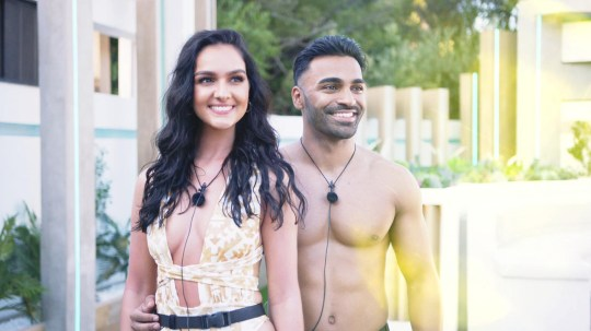 This image is strictly embargoed until 22.30 Sunday 12th January 2020 From ITV Studios Love Island: SR6: Ep1 on ITV2 Pictured: Siannise and Nas. This photograph is (C) ITV Plc and can only be reproduced for editorial purposes directly in connection with the programme or event mentioned above, or ITV plc. Once made available by ITV plc Picture Desk, this photograph can be reproduced once only up until the transmission [TX] date and no reproduction fee will be charged. Any subsequent usage may incur a fee. This photograph must not be manipulated [excluding basic cropping] in a manner which alters the visual appearance of the person photographed deemed detrimental or inappropriate by ITV plc Picture Desk. This photograph must not be syndicated to any other company, publication or website, or permanently archived, without the express written permission of ITV Picture Desk. Full Terms and conditions are available on the website www.itv.com/presscentre/itvpictures/terms For further information please contact: james.hilder@itv.com / 0207 157 3052