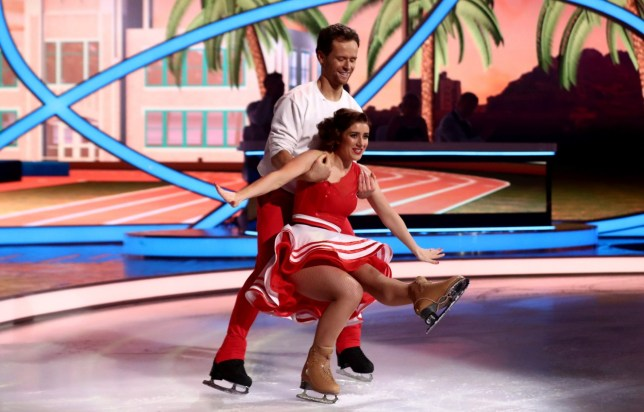 Libby Clegg and Mark Hanretty in Dancing On Ice
