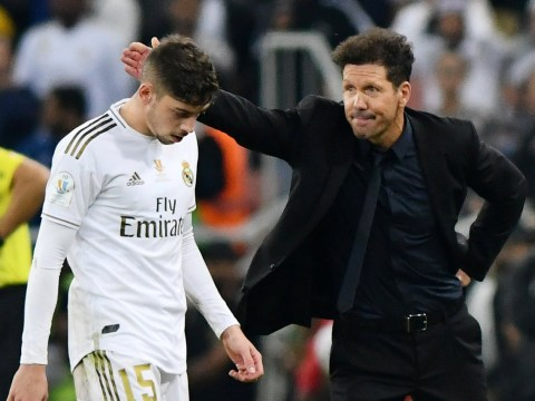 Diego Simeone praises Real Madrid's Federico Valverde for red card in Spanish Super Cup final