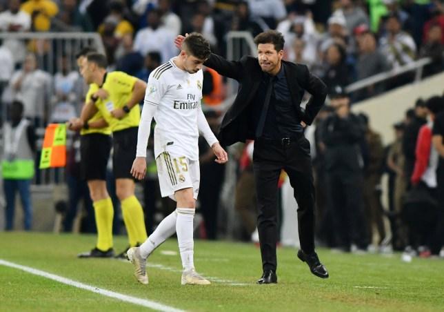 Diego Simeone and Federico Valverde