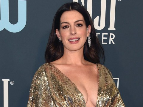 Anne Hathaway 'reveals she's had another boy while showing off snaps of newborn' at Critics' Choice Awards