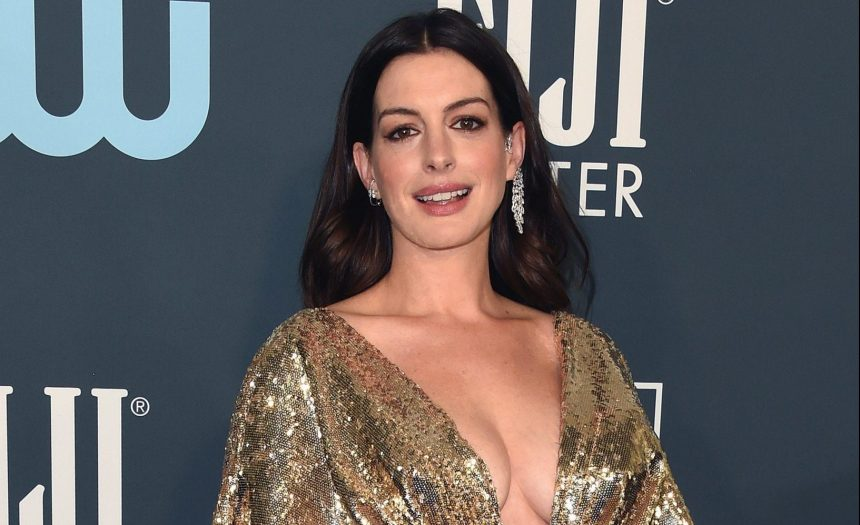 Anne Hathaway on red carpet at 25th Annual Critics' Choice Awards
