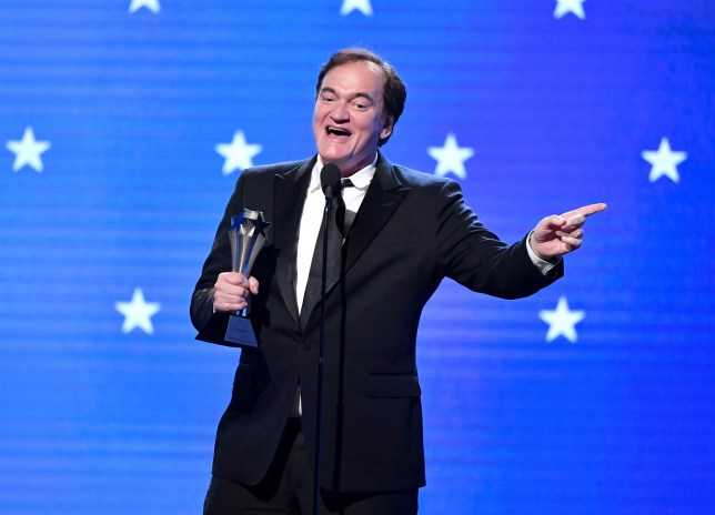 Quentin Tarantino accepts Best Supporting Actor