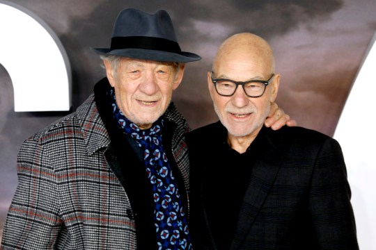 Sir Ian McKellen (left) and Sir Patrick Stewart attending the Star Trek: Picard Premiere held at the Odeon Luxe Leicester Square, London. PA Photo. Picture date: Wednesday January 15, 2019. Photo credit should read: David Parry/PA Wire