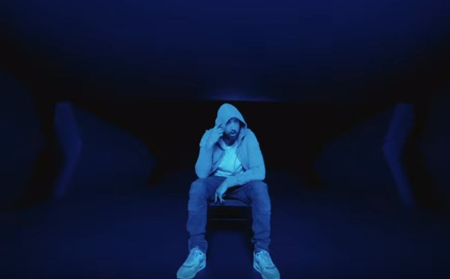 Eminem in his music video which recreates the 2017 Vegas shooting