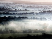 Early morning mist over fields near Pewsey in Wiltshire as plunging temperatures are expected across the country this weekend with the mercury predicted to dip as low as -6C. PA Photo. Picture date: Saturday January 18, 2020. See PA story WEATHER Cold. Photo credit should read: Steve Parsons/PA Wire
