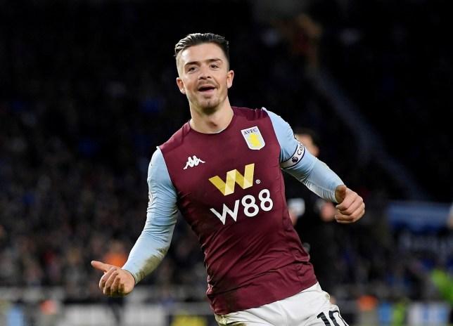 Jack Grealish celebrates scoring for Aston Villa