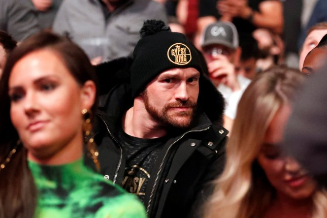 Boxing heavyweight Tyson Fury makes a face at the camera