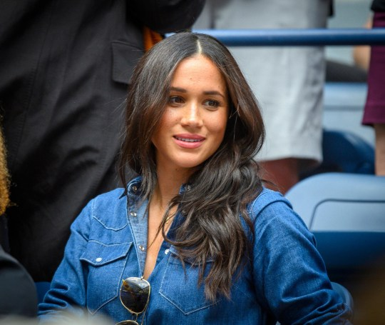 Flushing, N.Y: Meghan Markle, Duchess of Sussex was in Serena Williams' box during the Williams match against Bianca Andreescu of Canada during the Women's Final at the US Open at the USTA Billie Jean King National Tennis Center in Flushing, New York on Saturday, September 7, 2019. (Photo by J. Conrad Williams, Jr./Newsday via Getty Images)