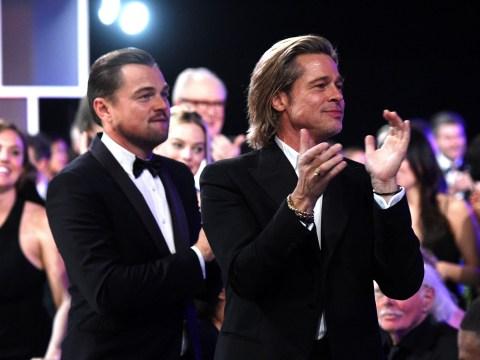 Brad Pitt and Leonardo DiCaprio reveal their true bromance as they celebrate together at SAG Awards